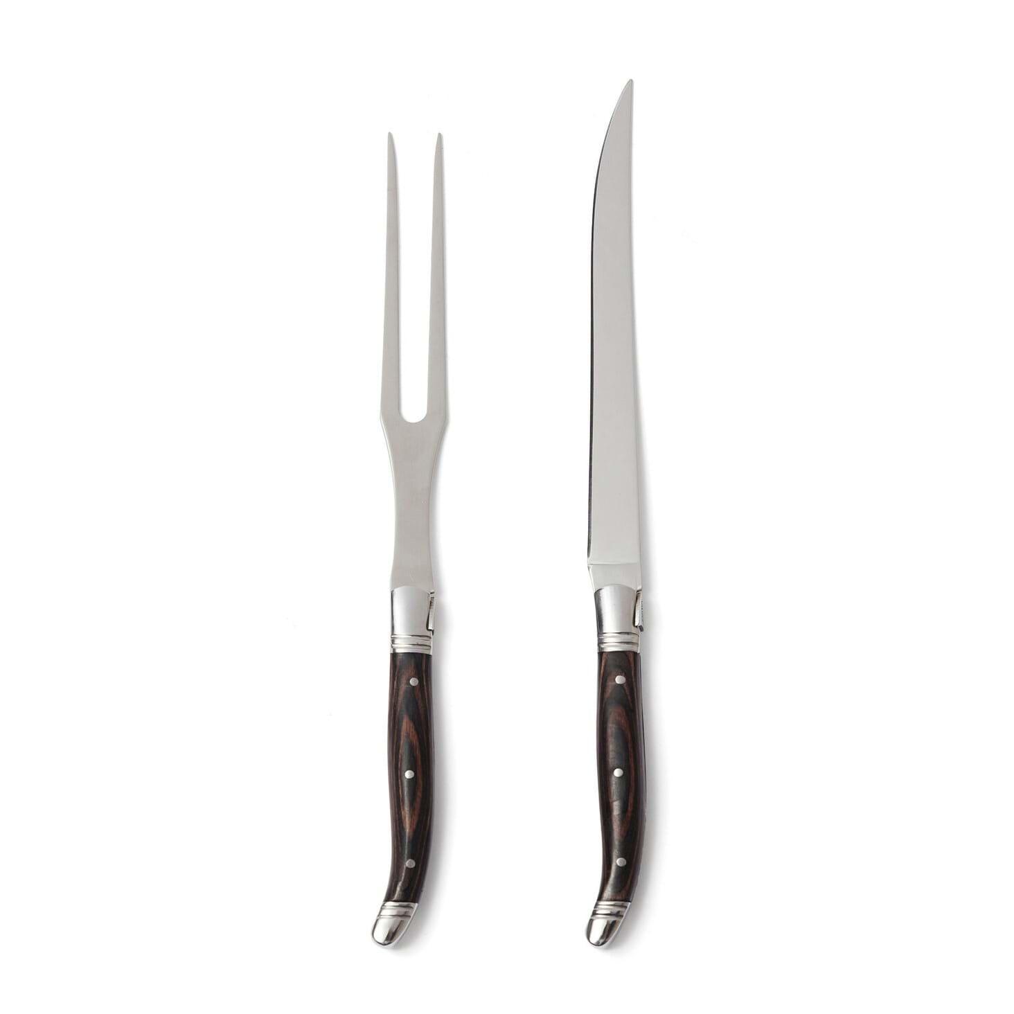 snyg kniv och gafel set i väska